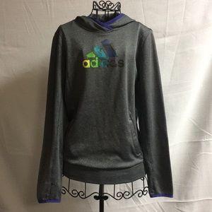 Adidas Grey Climawarm Pullover Hoodie